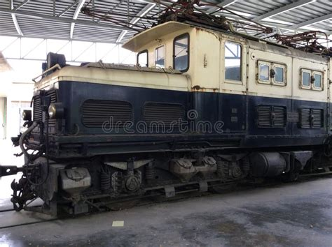 Detail Of An Old Brown Boveri Electric Locomotive