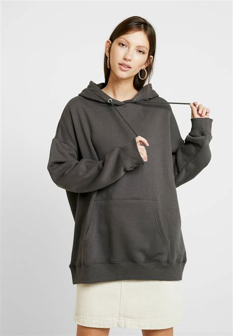 Nly by Nelly OVERSIZED HOODIE - Hoodie - off black