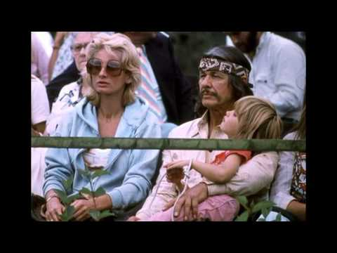 American actor Charles Bronson, his wife, British actress