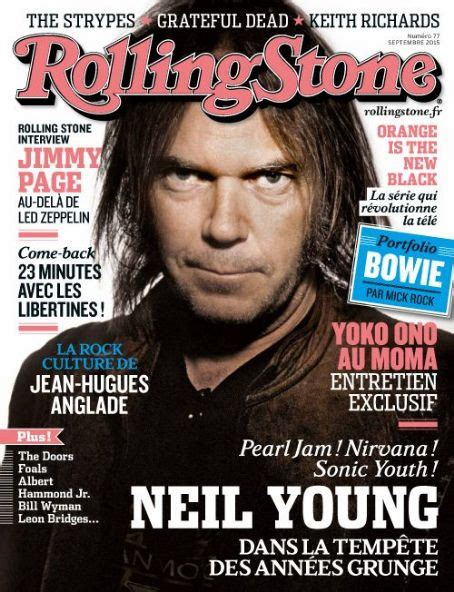 Neil Young, Rolling Stone Magazine September 2015 Cover
