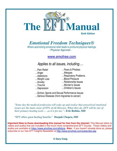 EFT Manual by Gary Craig by TheBluProject - Issuu