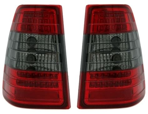 LED Rückleuchten Mercedes W124 T in Rot-Smoke | AD-Tuning