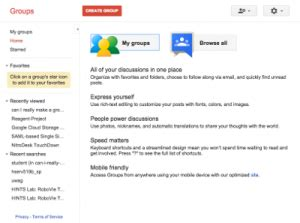 Google Groups for Discussion | IT Connect