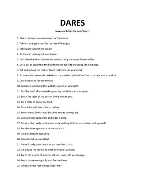 38 Really Good Dares You Can Do With Friends - The only