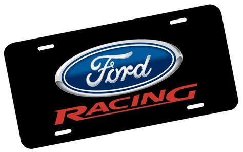 Ford Racing License Plate   Nostalgia Decals Graphic