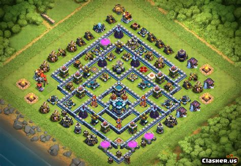 [Town Hall 13] Max TH13 Trophy/War/Ring base v504 [With