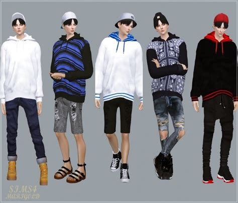 Male Hoodie at Marigold » Sims 4 Updates