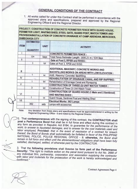 Notice of Award, Notice to Proceed and Contract of PRO9