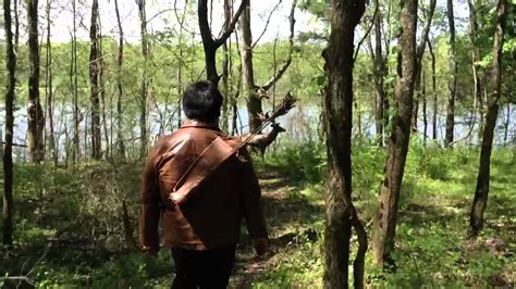 Shooting my Katniss Hunting Bow (The Hunger Games) - YouTube