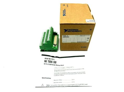National Instruments by Phoenix Contact NI TBX-50 50 Pin D