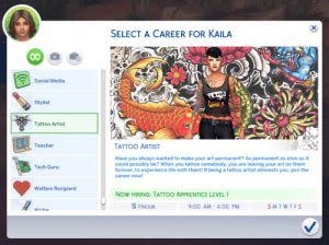 Marlyn's Tattoo Artist Career – Sweet Sims 4 Finds