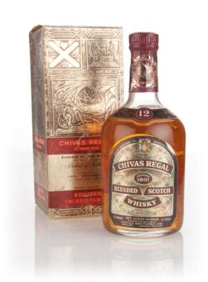 Chivas Regal 12 Year Old (Gold Box) - 1970s Whisky