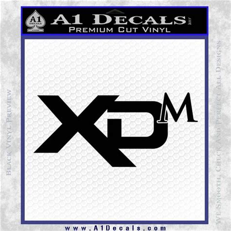 Springfield Armory XDM Decal Sticker » A1 Decals