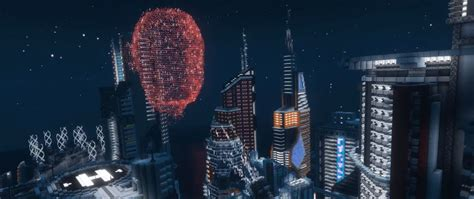 Check out this Cyberpunk-inspired Minecraft city