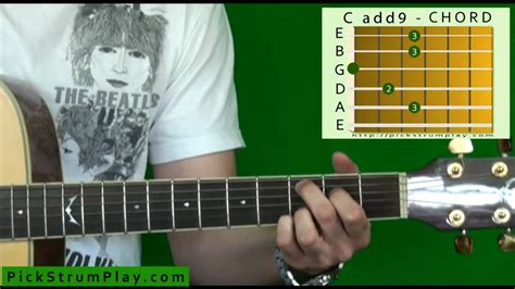How to Play a Cadd9 Chord on Guitar - YouTube