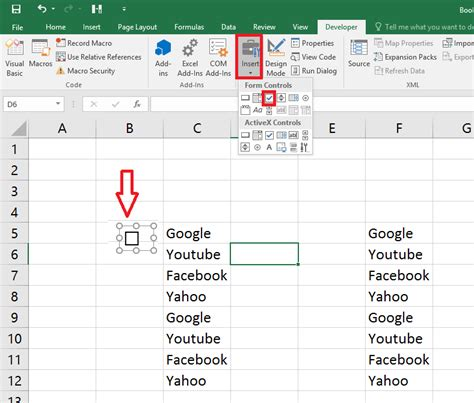 Learn New Things: How to Add Check Boxes In MS Excel Sheet