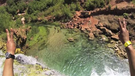 Havasupai Cliff Jumping with GoPro HD - YouTube