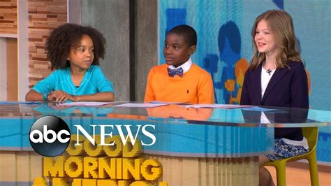 Children discuss whether homework should be banned live on