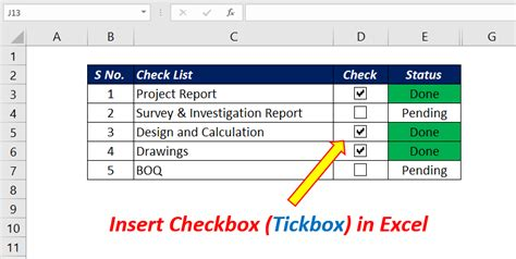 How to add a Checkbox (Tickbox) into Excel Sheet - XL n CAD