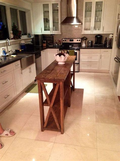 10+ Simple Rustic Homemade Kitchen Islands Ideas in 2020