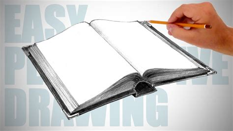 How to draw a book - Easy Perspective Drawing 17 - YouTube