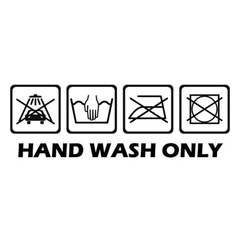 Hand Wash Only - Hot and Cool - AUTOAUFKLEBER