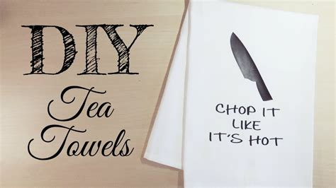 DIY Tea Towels with HTV | How to Download an SVG from Etsy