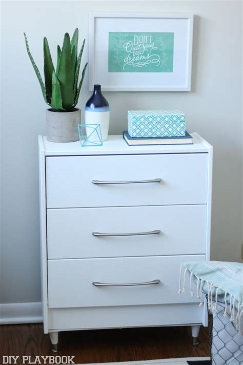 We transformed a $34 Ikea Rast dresser with new legs, some