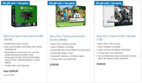 Xbox One Deal Gets You a Free Game and $50 Gift Code With