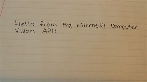 Digitize Your Notes With Microsoft Computer Vision API