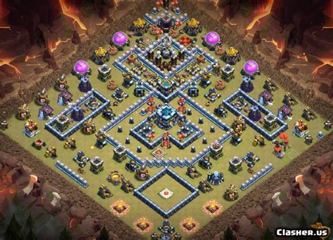 [Town Hall 13] TH13 War/Trophy/CWL base #983 [With Link