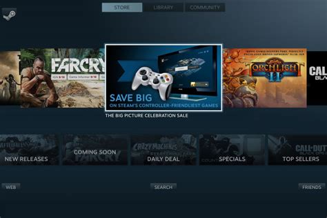 Steam Big Picture mode goes live, begets controller