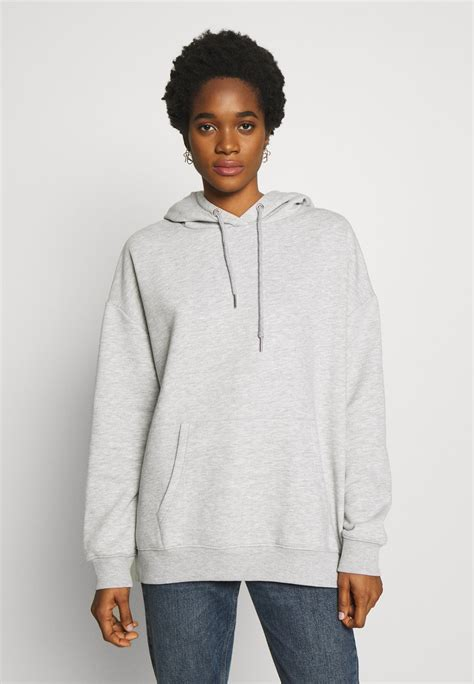 Nly by Nelly OVERSIZED HOODIE - Hoodie - grey melange