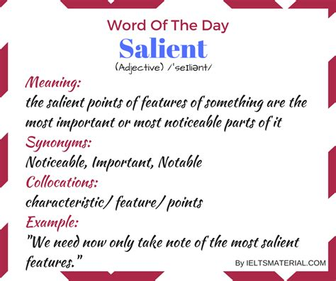 Salient - Word Of The Day For IELTS Speaking And Writing