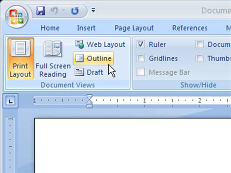 How to Use Outline View in Word 2007 - dummies