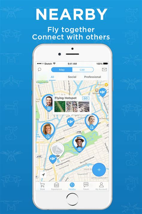 The 'DJI+ Discover' app helps people find and connect with