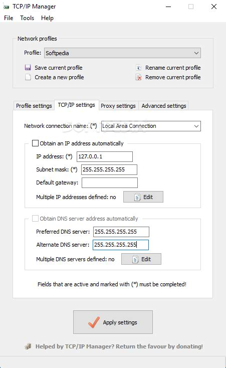 Download TCP/IP Manager Portable 4