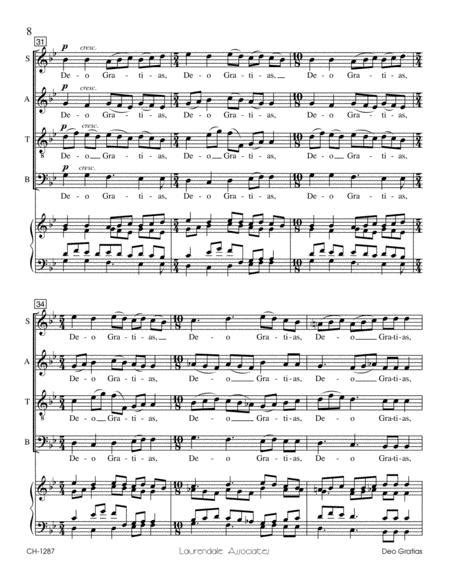 Deo Gratias By Dale Jergenson - Octavo Sheet Music For