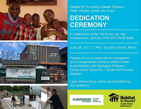 Perth Campus joins with Habitat for Humanity to change