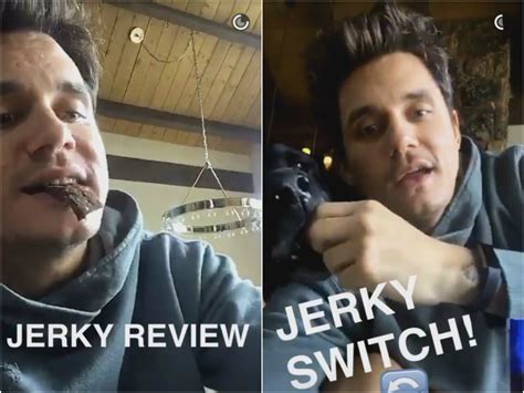 John Mayer Eats And Reviews Jerky For Dogs On Snapchat