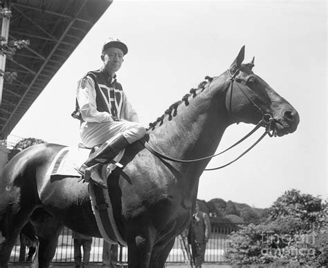 Red Pollard On Seabiscuit Photograph by Bettmann