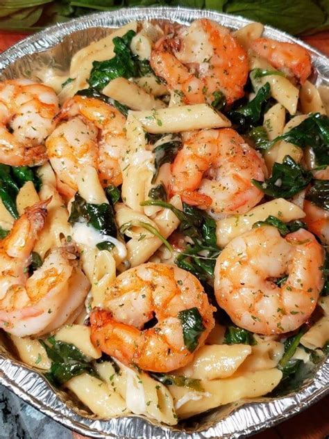 Cheese Shrimp Penne Pasta & Spinach – 99easyrecipes
