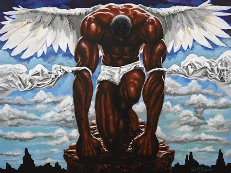 Guardian Angel Painting by The Art of DionJa'Y